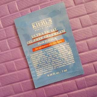 Ultra facial oil free gel cream kiehl's sample