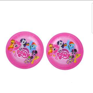 """My Little Pony Party Plates 7"""""""