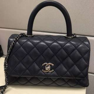 Chanel coco handle navy 袋 包包