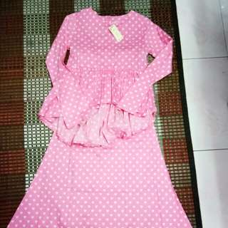 Baju Kurung Polkadot (budak)