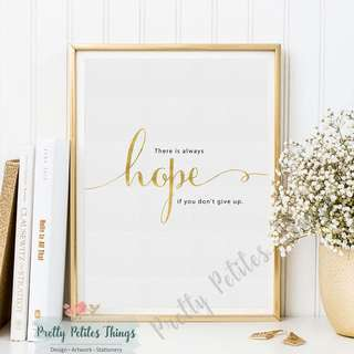 Inspiration Quotes Wall Art - Hope