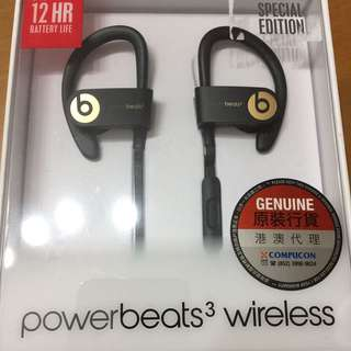 (100%new) powerbeats3 wireless special edition black x gold