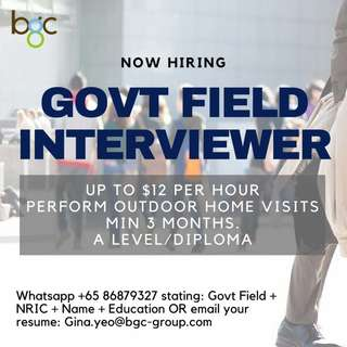 Government Field Interviewer (Up To $12 Per Hour)