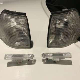 Clear corner & side marker lights BMW E36