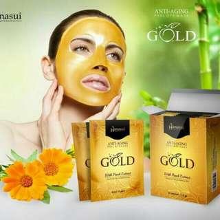 Masker gold hanasui