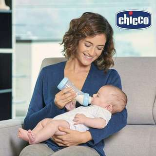 CHICCO FEED BOTTLE ANGLED 250ML SILICONE
