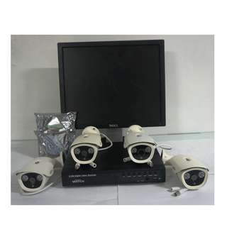 For Sale COmplete CCtv Package w/4pcs  Outdoor Camera 2.0mp 1080p