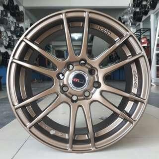 Velg HSR wheel Rays 57E R15x6.5 H4/100-114,3 bronze