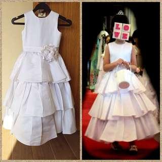 Ball Gown Tea-length Taffeta Flower Girl Dress