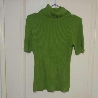 🚚 Theme針織草綠色上衣