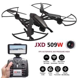 [SALE] JXD 509W Quadcopter FPV Drons With Camera HD WIFI Quadrocopter camara Drones Com Camera Headless Mode Rc Helicopter