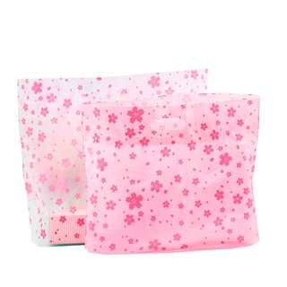 New Sakura Plastic Baking Dessert / Sushi / Cake Bag ~ 10pcs