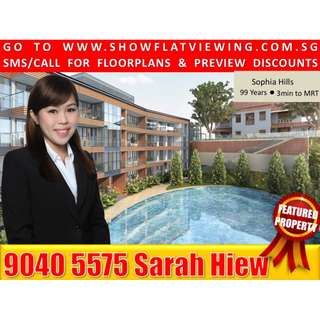 3 Bdr+Utility+Private Lift in Orchard Singapore(Sophia Hills) For Sale