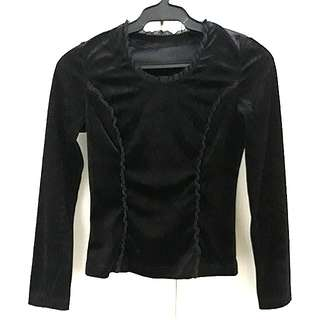 SALE! black velvet top