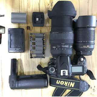 Nikon D80 ( full set as shown in photo )