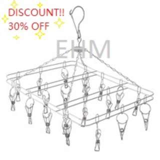 Stainless Steel Square Hanger with 20 Clips ( Discount!!! - 30% OFF )