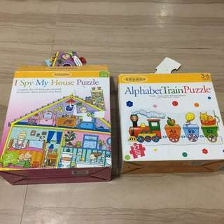 Set of 2 Infantino Puzzles (3-6 years old)