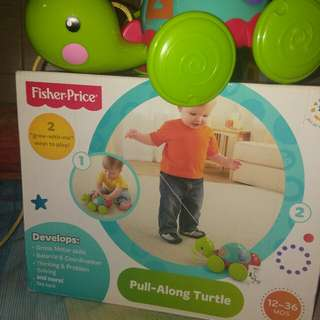 Fisher Price Pull Along Turtlef