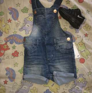H&M jeans baby overalls