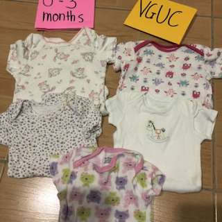 TAKE ALL 250 onesies dress and leggings VGUC-GUC 0-3months Baby girl