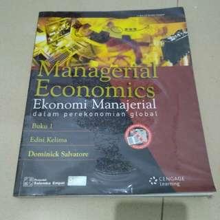 Buku managerial economics dalam perekonomian global