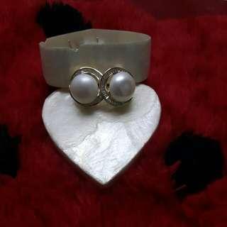 Fresh Water Pearl Earrings (2way)