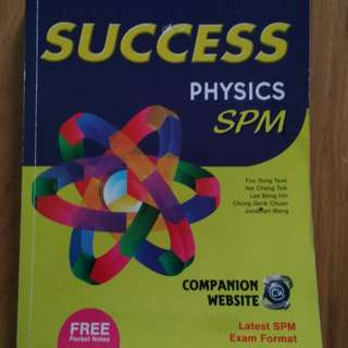 SPM Physics (SUCCEES) + free pocket notes