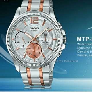 💋💋💋6折全新行貨卡西歐防水男装行針鋼錶-40% Off Brand New Original Casio Water Resistance Men Analog Metal Watch