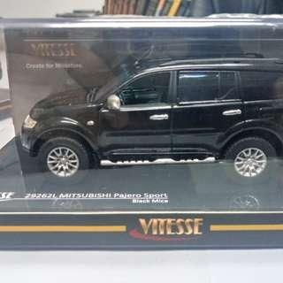 Mitsubishi Montero Sport (black) miniature diecast