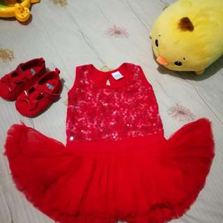 Crib Couture Sequined dress 18m