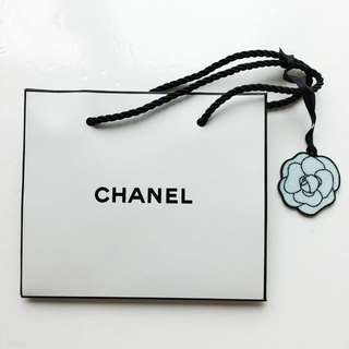 CHANEL Paper Bag with Camellia Tag