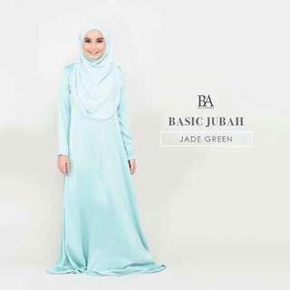 BELLA BASIC JUBAH JADE GREEN