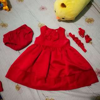 Carter's Red Birthday Gown