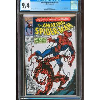 Amazing Spider-man 361 CGC 9.4 comics