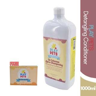 Play pets Detangling Conditioner 1000 ml Bundle