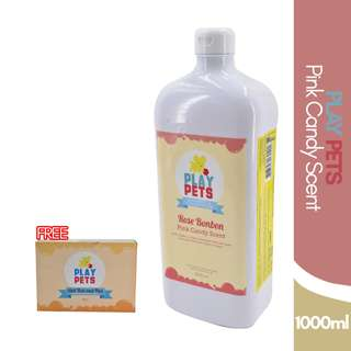 Play pets Pink Candy Scent Shampoo and Conditioner 1000ml