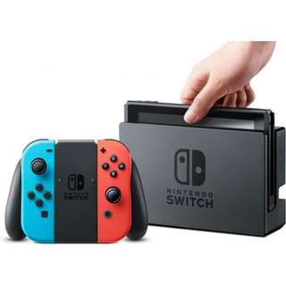 Nintendo Switch Console ( Maxsoft Wrty) Free Pikachu Phushie ( 15cm )