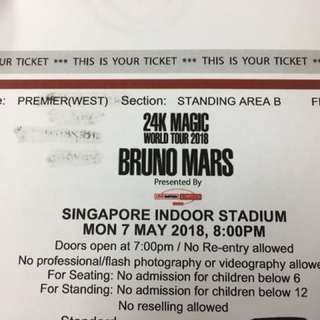 24K MAGIC world tour 2018 BRUNO MARS(available 4 tickets @ 3.500.000