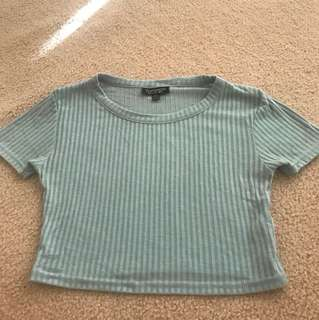 Top shop green crop Tshirt