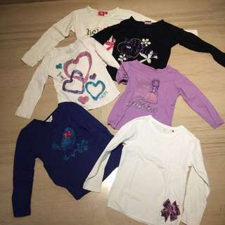 Bundle set of 6 Long sleeved cotton comfortable shirts