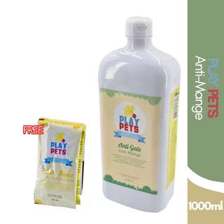Play pets Anti-Mange Shampoo and Conditioner 1000