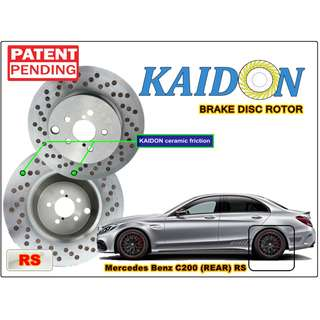 "Mercedes Benz C200 brake disc rotor KAIDON (REAR) type ""RS"" / ""BS"" spec"