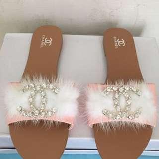 korean ribbon sandals channel