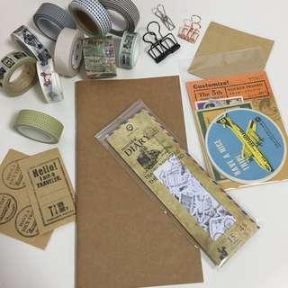 Journal Essentials Bundle / Starter Kit (Traveling Theme) (Ref No.: 108)