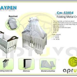 Baby crib set with mattress