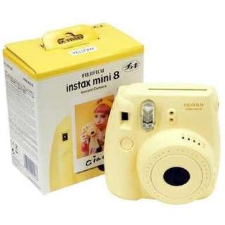 Instax mini 8 yellow