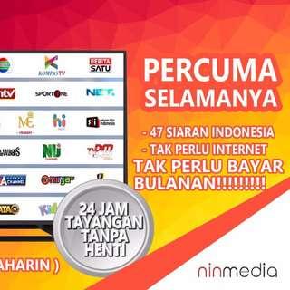 Saluran TV Tanpa Perlu Bayaran Bulanan Murah!