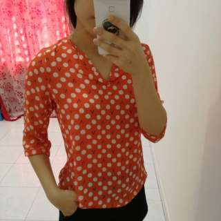 Polka Dot Blouse (include postage)