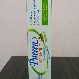 Pureen maternity toothpaste
