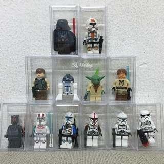 Minifigs with acrylic box ( Starwars )